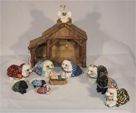 collectible heaven s paws poodle nativity set 12 pc
