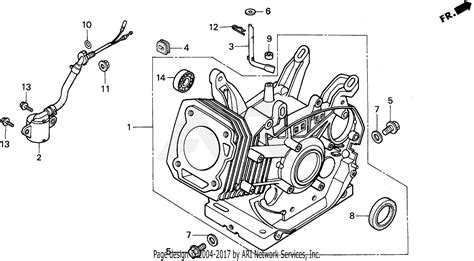 honda em5000sx a generator jpn vin ea7 1000001 parts diagram for cylinder