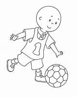 Caillou Soccer sketch template