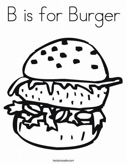 Coloring Burger Cheeseburger Double Ll