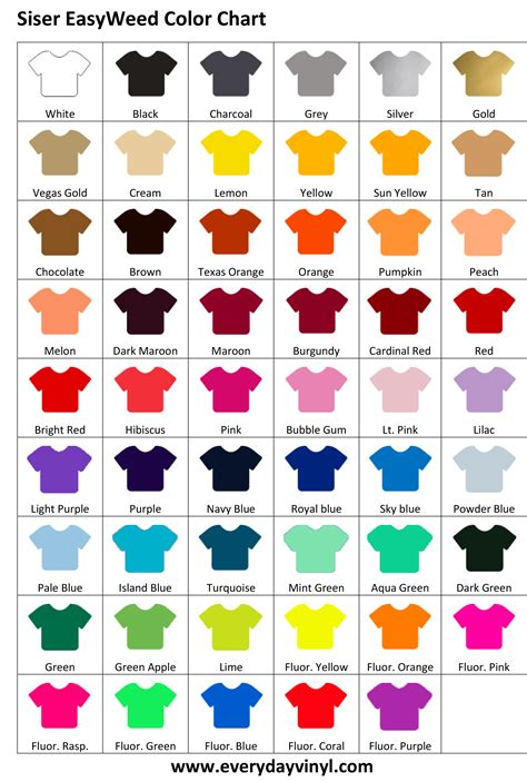 color chart sisereasyweed color chart
