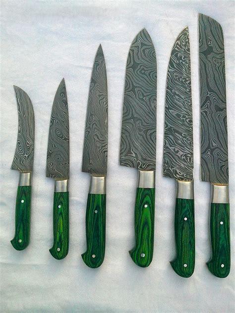 kitchen knives set damascus steel kitchen knife set spero knives