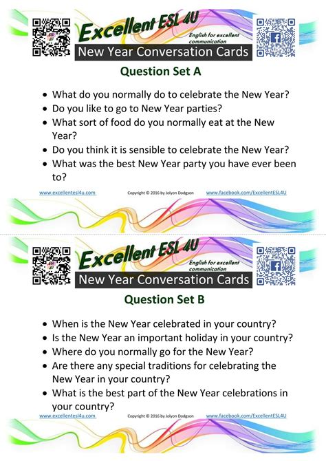 esl  year conversation