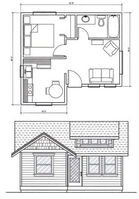 plans tiny sq ft floor cabin 400 under plan houses 200 square spaces foot space guest apartment cowboy saving eastern