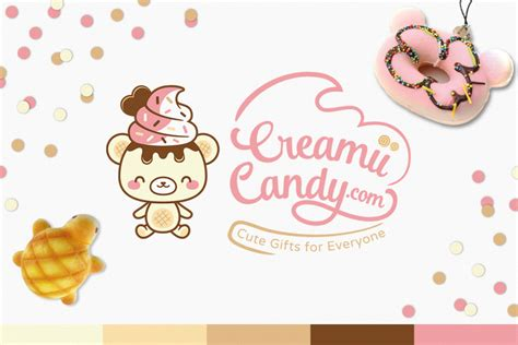 creamii candy logo  mascot sugaroverkill
