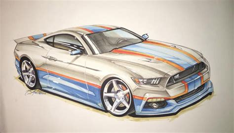 king edition ford mustang  pettys garage  sketch