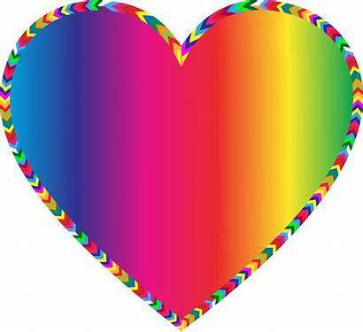 Heart Rainbow Multi Clipart Colors Hearts Background