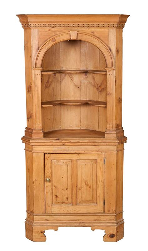 antique corner cabinet for antique pine corner cabinet cupboard arched rustic 7469