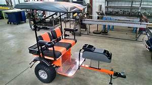 Custom Built 4 Person Golf Cart Trailer Pull Behind Tag