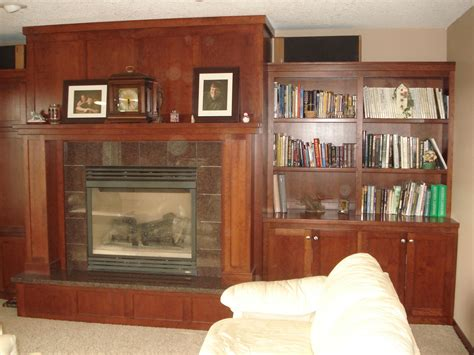 handmade mantle fireplace surroundbookcase   richard