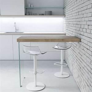 Table Murale Cuisine : table snack murale en stratifi avec pied verre fix 4 ~ Teatrodelosmanantiales.com Idées de Décoration