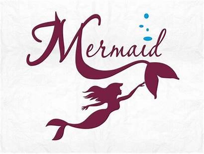 Mermaid Cut Clipart Svg Silhouette Cameo Cricut