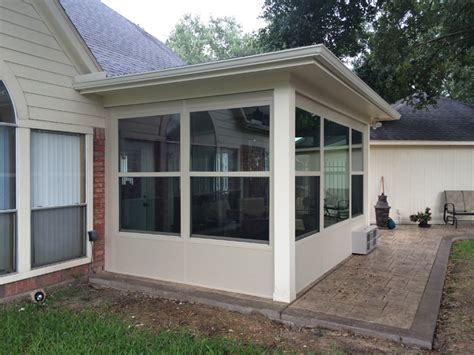 Stamped Concrete And Sun Room In Houston Tx