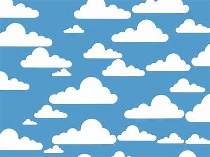 Clouds Simple Clip Cloud Drawing Clipart Pattern