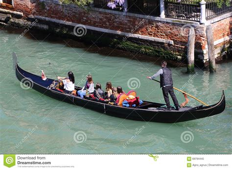 Venice Gondola Or Boat by Gondola Tour In Venice Italy Editorial Image Image 69794440