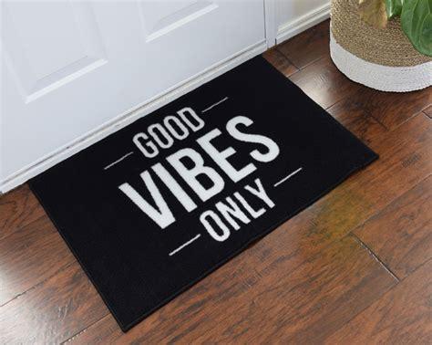 2' x 3' Good Vibes Only Welcome Doormat   FloorMatShop.com