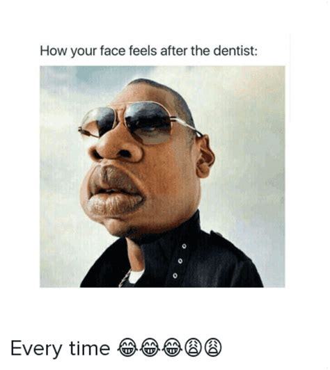 Jay Meme - how your face feels after the dentist every time