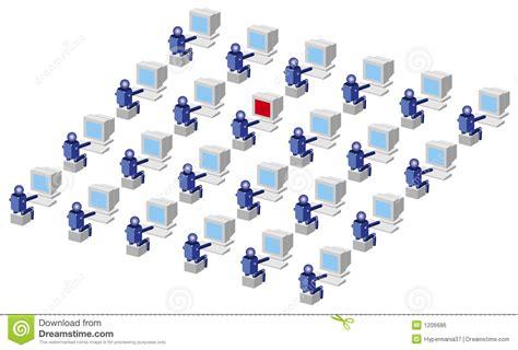 Computer Users Stock Illustration. Illustration Of