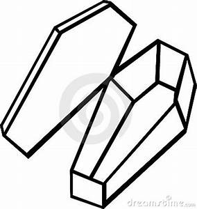 Empty Coffin Vector Illustration Cartoon Vector