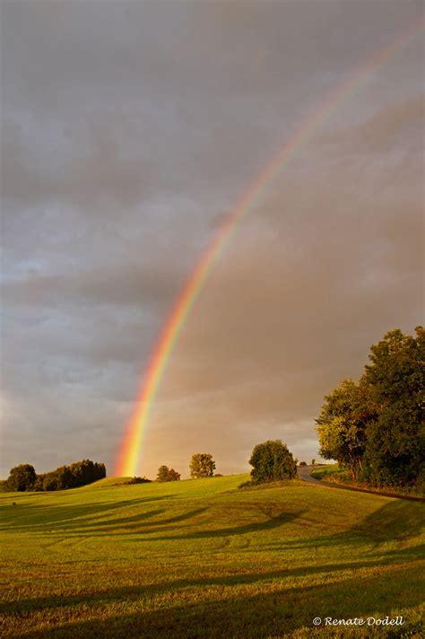 rainbow view  black waehrend der fahrt von einem termin