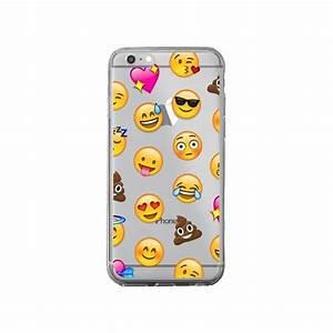 Coque Pour Iphone 6 : coque emoticone emoji transparente pour iphone 6 plus et 6s plus laetitia ~ Teatrodelosmanantiales.com Idées de Décoration