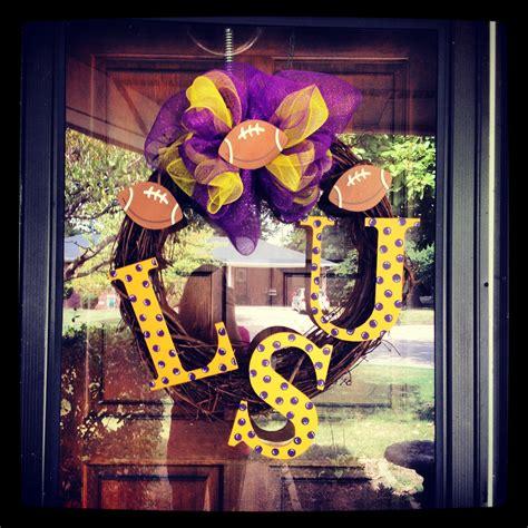 lsu front door wreath doll  loveeee  wreaths