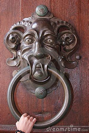big antique door knocker royalty  stock image