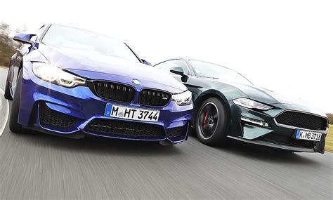 Bmw M4 Competition Ford Mustang Bullitt Test bmw m4 competition paket ford mustang bullitt test 24fr