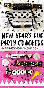 DIY New Year's Eve Party Crackers - Happiness is Homemade