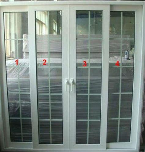 patio white upvc sliding door with grills china mainland
