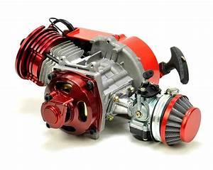 Mini Moto  Quad  Motard  Dirt Bike 50cc Race Engine Red