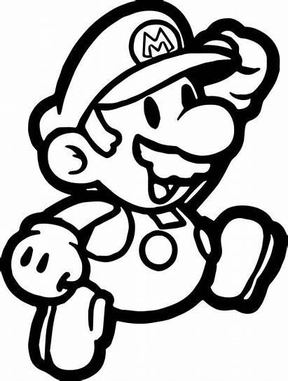 Mario Coloring Pages Super Paper Bros Printable