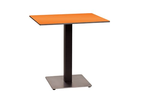 single leg dining table new 30 in square hpl table top with rails et t