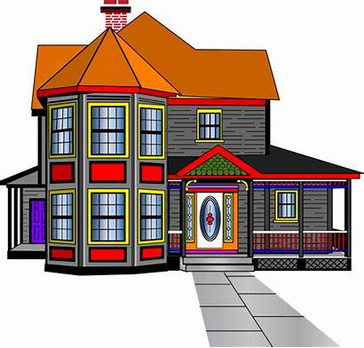Clipart Clip Mansion Houses Cliparts Mini Row