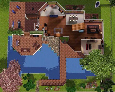 cool sim houses ideas home plans blueprints