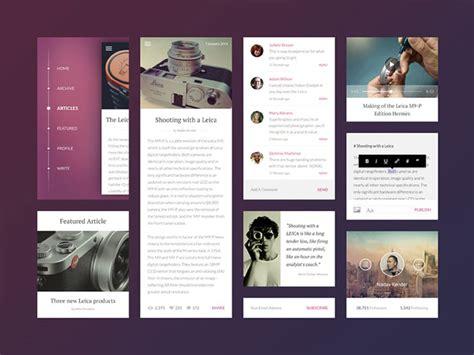 brilliant examples  ui cards web graphic design