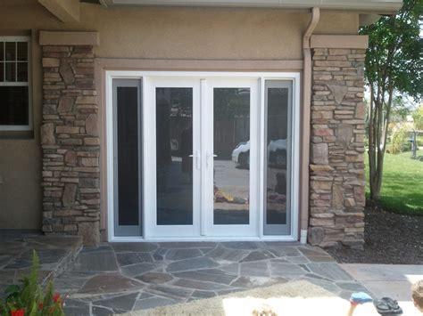 convert garrage door to windows garage door converted into door with two side lights that open yelp