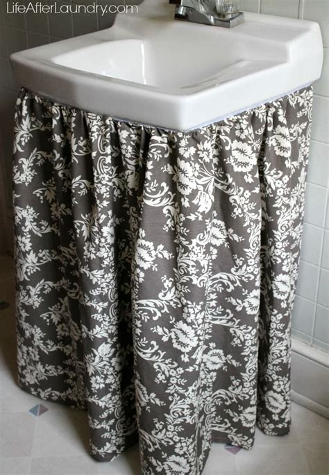 Utility Sink Skirt Pattern by 25 Best Ideas About Sink Skirt On Bathroom