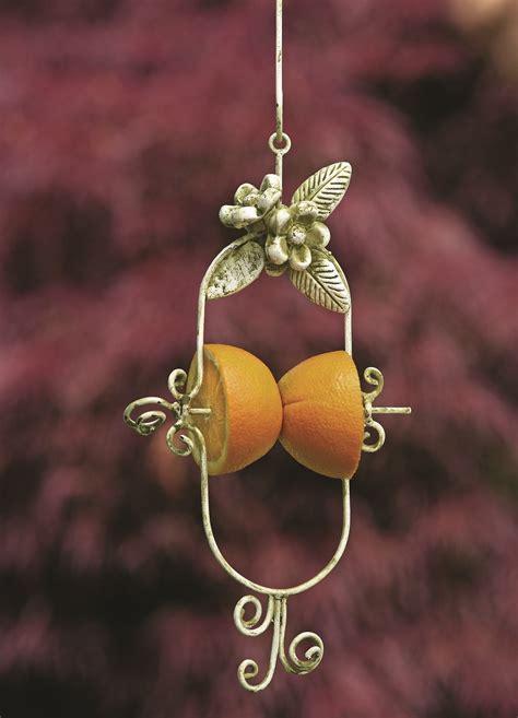 flower fruit spear bird feeder