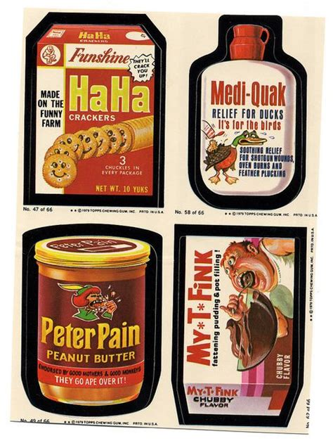 wacky packages 1970 culture pop flickr packs memories toys stickers 1970s mad magazine childhood sticker fink rat loved bart ooooh