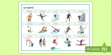 sports word mat french ks french word mat sports