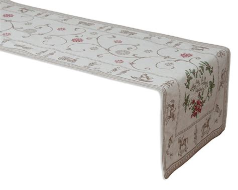 french jacquard table runner quot montagne christmas quot jacquard table runner french linen