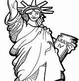 Liberty Statue Coloring Getdrawings sketch template