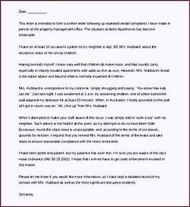 apartment noise landlord complaint letter template example With complaint letter to landlord template