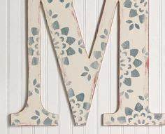 wood letters on pinterest wood letters painted letters With wooden monogram letters michaels
