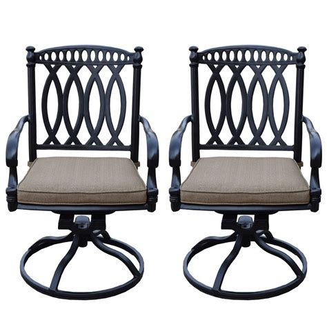 Canora grey anguiano swivel patio chair with cushions reviews. Set of 2 Black Morocco Swivel Rocker Outdoor Patio Chairs ...