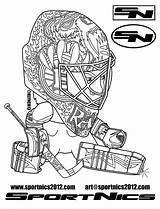 Coloring Hockey Goalie Bruins Boston Nhl Dessin Nashville Drawing Montreal Canadiens Imprimer Predators Capitals Colorado Logos Coloriage Avalanche Washington Getcolorings sketch template