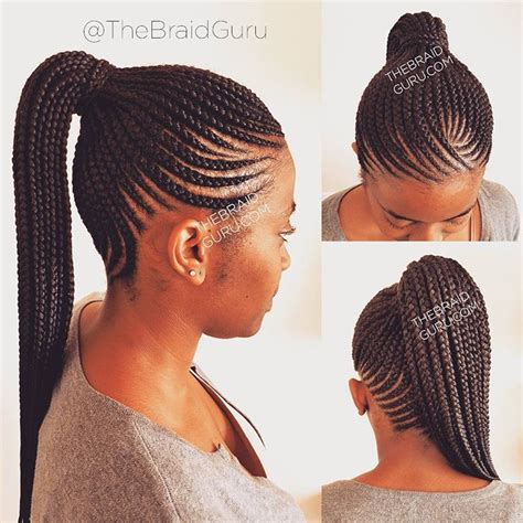 Cornrow Ponytail Hairstyles For by Pin By B On Braids Twists Cornrow Ponytail