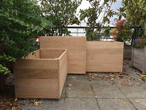 Bac En Bois Pour Jardin : 92 bac en ch ne sur mesure les jardiniers v lo ~ Melissatoandfro.com Idées de Décoration