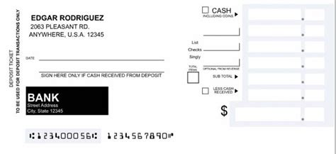 how to fill out a deposit ticket printable bank deposit slip template excel xls microsoft